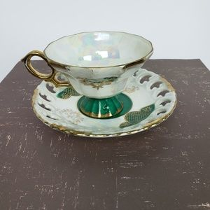 Vintage Norleans Teacup and Reticulated Saucer